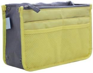 Lemish Mini Women Cosmetic Makeup Bags Organizer Storage Bag Pouch Holder Yellow Travel Toiletry Kit Yellow