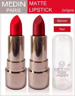 MEDIN Paris copper Body matte lipstick cosmetics makeup combo set of 2 color