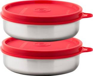 Signoraware Executive Small Steel 2 Containers Lunch Box 200 ml