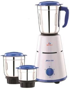 BAJAJ PLUTO Pluto Mixer Grinder, 500W, 3 Jars 500 Mixer Grinder (3 Jars, Multicolor)