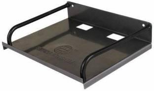 Value Adds Wall Mount Set Top Box Iron Wall Shelf (Number of Shelves - 1, Black) Steel Wall Shelf