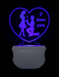 ZULKA Get your traditions GOJ_3D Couple Heart Night Lamp 30 Night Lamp