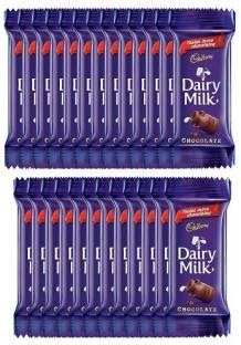 Cadbury Dairy Milk Chocolate Bar, 23g (Pack of 25) Bars