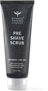 BOMBAY SHAVING COMPANY Pre Shave Scrub with Black Sand and Vitamin E for Dead Skin Removal - 100 g Scrub