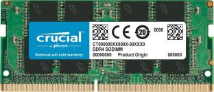 Crucial 4GB DDR4-2666 SODIMM works in 2133mhz and 2400mhz DDR4 4 GB (Dual Channel) Laptop DRAM (CT4G4SFS824A)