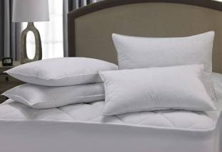 HHH FAB Polyester Fibre Solid Sleeping Pillow Pack of 4
