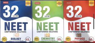 THREE BOOKS COMBO OF 32 Years NEET-AIPMT Chapterwise Solutions PHY,CHEM AND BIO FOR MADICAL EXAMINATION