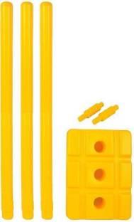 Proactive Heavy Plastic Cricket Stumps Set - 3 Stumps + 2 Bails + 1 Stand