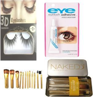 BELLA HARARO Naked3 Makeup Brushes Kit with Storage Box (Gold) Set of 12 with Flash