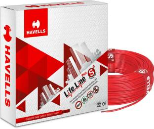 HAVELLS HRFR PVC 4 sq/mm Red 90 m Wire
