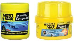 Motomax Scratch Remover Wax, Cream polish Combo