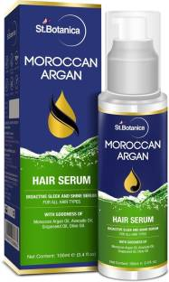 StBotanica Moroccan Argan Hair Serum - Nourishing and Frizz Control Serum (With USDA Organic Argan Oil)