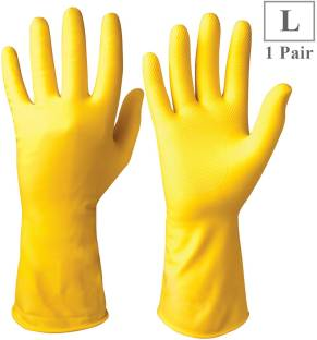 Healthgenie Flocklined Industrial and Scientific Large, 1 Pairs Gloves Rubber  Safety Gloves