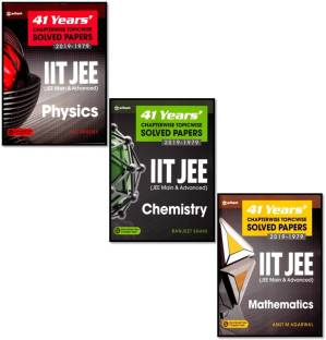 Arihant 41-Years 3-Books Set (Chem. + Phy. + Maths. ) Chapter-Topicwise Solved Papers (2019-1979) Iit-Jee (Jee Mains & Advanced) (By-Ranjeet Shahi + D.c.pandey + Amit M Agarwal)
