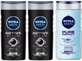 NIVEA Active Clean and Pure Impact Shower Gel