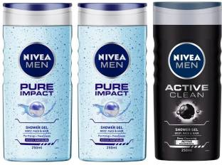 NIVEA Pure Impact and Active Clean Shower Gel