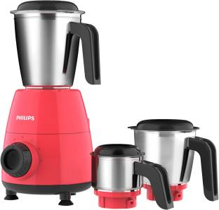 PHILIPS Daily Collection HL7505/02 500 W Mixer Grinder (3 Jars, Red, Black)