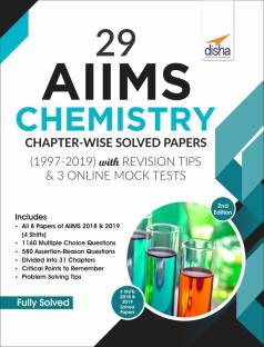 29 AIIMS Chemistry Chapter-wise Solved Papers (1997-2019) with Revision Tips & 3 Online Mock Tests - 2nd Edition