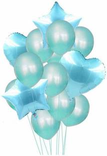 Smartcraft Solid Balloon Bouquet (Pack of 13) -Blue , Balloons Party Decoration Balloon Balloon