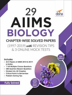 29 Aiims Biology Chapter-Wise Solved Papers (1997-2019) with Revision Tips & 3 Online Mock Tests