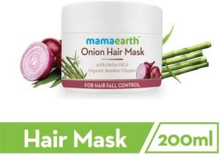 MamaEarth Onion Hair Mask For Dry & Frizzy Hair, Controls Hairfall