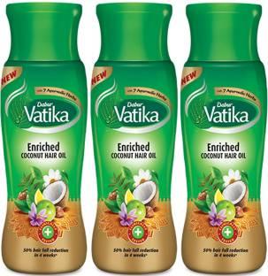 Dabur Vatika Enriched Coconut Hair Oil 75ml Pack Of 3 Hair Oil
