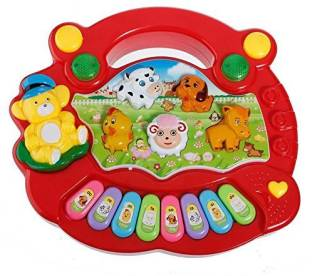 Tenderfeet Electronic Light and Sound Animal Farm Educational Piano with Keyboard