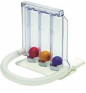 Spiromax Spirometer/ Respirometer/ 3-ball Lung / Respiratory Exerciser 3-ball Respiratory Exerciser