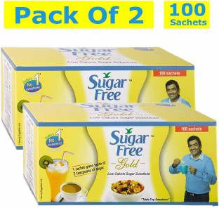 Sugar free Gold 100 Sachets - Pack of 2 Sweetener