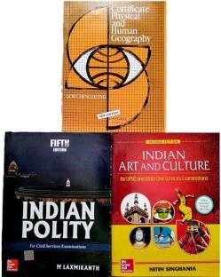 Indian Polity By M. Laxmikant, Indian Art And Culture By Nitin Singhania And Certificate Physical And Human Geography By Goh Cheng Leong For Civil Service Exam