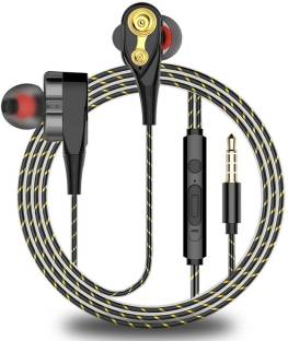 EXTRA BASS XT114 Wired Headphone Black, In the Ear