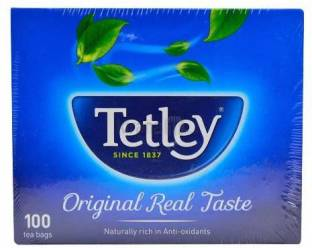 tetley ORIGINAL REAL TASTE 100 TEA BAGS Tea Bags Box