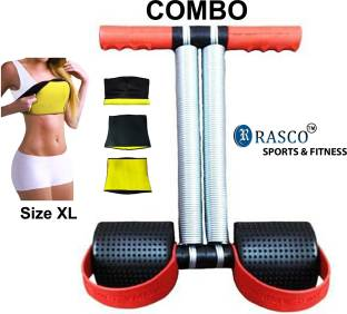 RASCO HOT SHAPER BELT WITH DOUBLE STEEL SPRING TUMMY TRIMMER Ab Exerciser