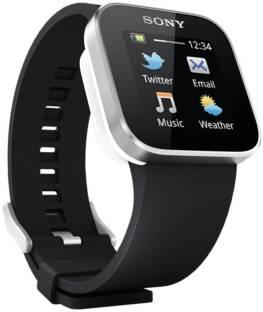 SONY MN2SW Smart Watch (Silver, Black) Smartwatch