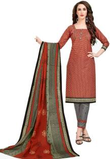 DrapesCotton Printed Salwar and Dupatta Material Unstitched