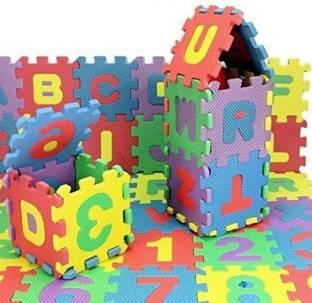 JAYNIL ENTERPRISE 10Pcs Numbers (0-9) & 26Pcs Alphabet (A-Z) Puzzle Mat 2 In 1 PMS-9005 (36 Pieces)