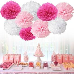 Skylofts DIY Flower Party Supplies Birthday Decorations Items for Girls Pack of 8 Banner