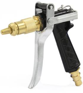 NIRVA High Pressure Brass Hose Nozzle Adjustable Water Spray gun for car Motorbike And Any Vehicle Cleaning , For Gardening, For Washing , Forced Pichkari , With Best Quality with Hose Clamp Spray Gun