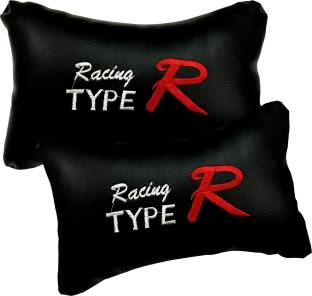 AdroitZ Black Leatherite Car Pillow Cushion for Chevrolet