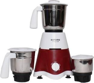 Kutchina FGSAMG500004 STYLO 500 500 Mixer Grinder (3 Jars, White, Maroon)