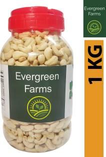 Evergreen Farms Fresh Whole Cashews Cashew Nut (Kaju) in Pet Jar 1 KG Cashews