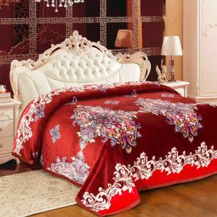 Signature Floral Single Coral Blanket