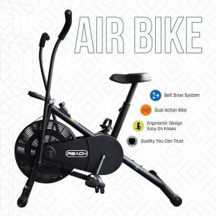 Reach AB-110 Exercise Cycle With Moving Handles Upright Stationary Fitness Gym Bike Dual-Action Stationary Exercise Bike