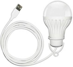 VIDZA USB LED Bulb of 5 Volts 6 Watts, Along with 6 Feet Long Cable (White)E usb bulb G Led Light