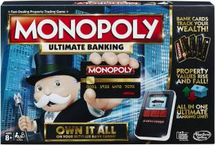 HASBRO GAMING Monopoly Ultimate Banking 2-4 Players Board Game Accessories Board Game