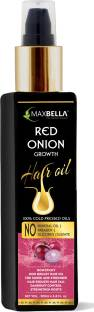 MaxBella Red Onion Oil with Redensyl for Hair Growth and Anti Hairfall,Free from Paraben & Mineral Oil, for Men and Women Non Sticky  Hair Oil