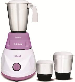 Inalsa Astra LX 600 W Mixer Grinder (3 Jars, White & Purple)