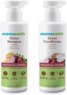MamaEarth Hair Regrowth Combo (Onion Shampoo, 250ml + Onion Conditioner, 250ml)