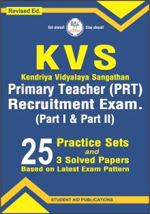 KVS PRT Recruitment Exam. (Part-I & Part-II) 25 Practice Sets