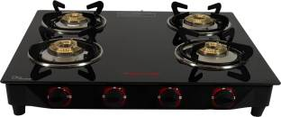 Butterfly Rapid 4 Burner Glass Manual Gas Stove